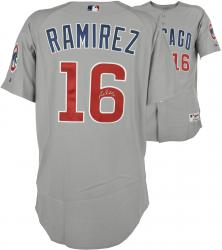 Aramis Ramirez Chicago Cubs Autographed 2006 Game-Used Gray Road Jersey - Mounted Memories