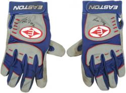 Aramis Ramirez Chicago Cubs Autographed 2006 Game Used Easton Gray Batting Gloves - Set of 2 - Mounted Memories