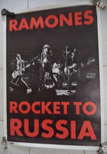 Ramones Rocket To Russia 25x35 Poster Splash Vintage Rare