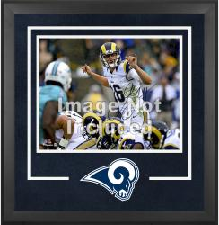 St. Louis Rams Deluxe 16'' x 20'' Horizontal Photograph Frame with Team Logo - Mounted Memories