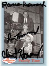 Rance Clint Ron Howard Autographed The Andy Griffith Show Card AFTAL