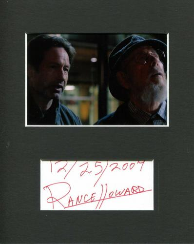 Rance Howard The X-Files Rare Signed Autograph Photo Display W David Duchovny
