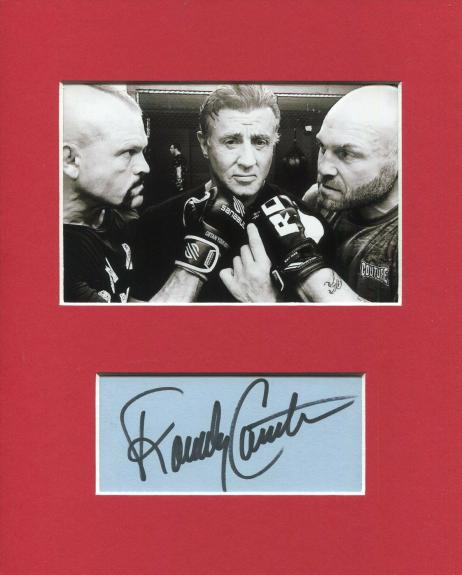 Randy Couture Expendables Signed Autograph Photo Display W Sylvester Stallone