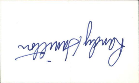 """RANDY HAMILTON DAYS OF OUR LIVES Signed 3""""x5"""" Index Card"""