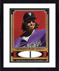 RANDY JOHNSON -P- (DIAMONDBACKS) W-303 L-166 5 Time CY YOUNG WINNER - 2001 UD LEGENDARY GAME JERSEYS CARD