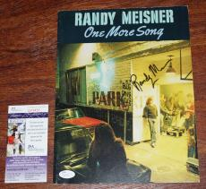 "RANDY MEISNER Signed ""One More Song"" Music Book - The EAGLES + JSA COA Q09455"