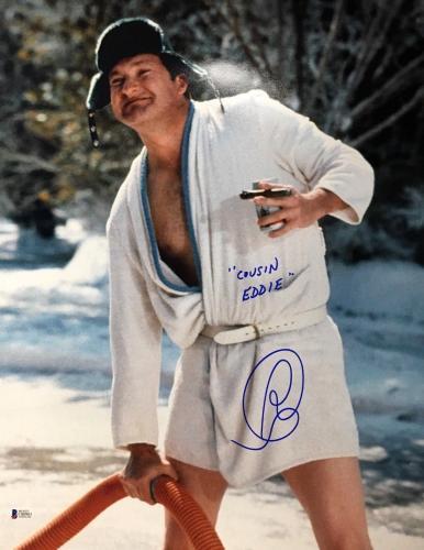 Randy Quaid Christmas Vacation Cousin Eddie Signed 16X20 Photo BAS Beckett COA