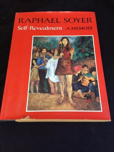 Raphael Soyer Self-Revealment Memoir Signed Autograph 1st Edition Hardback Book