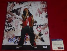 rapper LIL WAYNE tunchi  signed PSA/DNA 11X14 photo 3