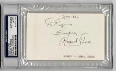 Raquel Torres Duck Soup Marx Brothers signed 3x5 Index Card PSA/DNA Slabbed auto