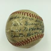 Rare 1940's Goose Tatum Single Signed Baseball Negro League Harlem Globetrotters