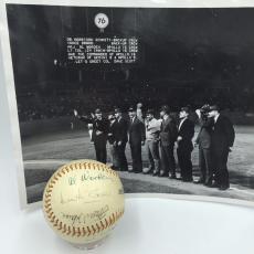 Rare 1970 Apollo And Gemini Astronauts Multi Signed Baseball With JSA COA