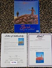 RARE 1978 Rush HEMISPHERES signed autographed concert tour book by 3 PSA DNA COA