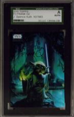 Rare 2010 Topps #p2 Star Wars Galaxy Insert Frank Oz Yoda Signed Jsa Sgc Auto