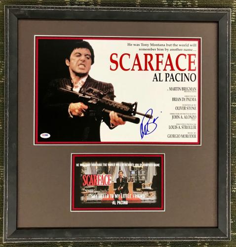 RARE- AL PACINO (Scarface) authentic signed 11x14 custom framed display-PSA