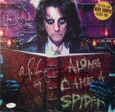 "RARE-ALICE COOPER Dual signed ""Along Came A Spider"" album/colored Vinyl -JSA"