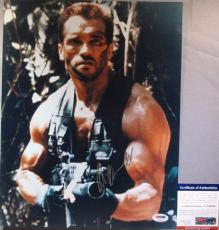 RARE!!! Arnold Schwarzenegger Signed PREDATOR 11x14 Photo PSA/DNA Tough!!