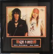 RARE-AXL ROSE/IZZY STRADLIN (Guns & Roses) signed/framed Vintage poster-JSA