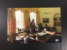 Rare Bill Clinton Signed Auto In The Oval Office 12x18 Large Photo Psa Dna Coa