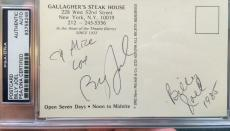 Rare Billy Joel Signed Vintage Gallagher's Steak House Post Card PSA DNA Auto