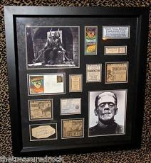 RARE Boris Karloff FRANKENSTEIN 1931 signed autographed FRAMED ticket PSA DNA