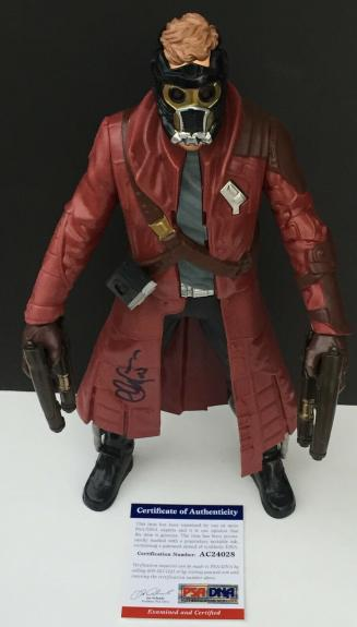 "RARE! Chris Pratt GUARDIANS OF THE GALAXY Signed STAR-LORD 12"" Action Figure PSA"