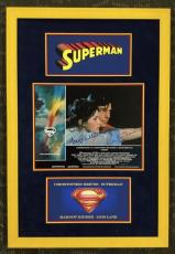 RARE-CHRISTOPHER REEVE/MARGOT KIDDER signed SUPERMAN custom framed display- JSA