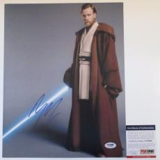 RARE! Ewan McGregor Signed STAR WARS 11x14 Photo PSA #3