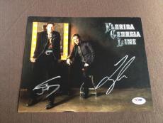 RARE Florida Georgia Line Signed 8x10 PSA DNA Brian Kelley & Tyler Hubbard HOT