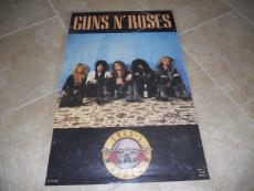 RARE Guns & Roses ORIGINAL Funky 1987 Comic Large 22x34.5 Promo Poster Axl Slash