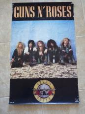 RARE Guns & Roses ORIGINAL Funky 1987 Large 22x34.5 Promo Poster Axl Slash #2