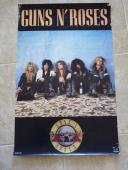 RARE Guns & Roses ORIGINAL Funky 1987 Large 22x34.5 Promo Poster Axl Slash #2
