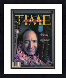 "Rare Jeff Bezos ""Customers Rule"" Signed 1999 Time Magazine Man Of The Year JSA"