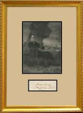 Rare Jefferson Davis Autograph in Framed Display