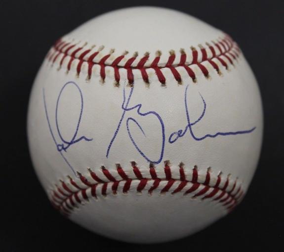 Signed Babe Ruth Ball - Rare! John Goodman 1992 Psa dna Oml
