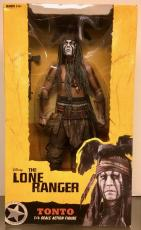 "RARE-JOHNNY DEPP signed Tonto (Lone Ranger) NECA 1/4 scale 18"" action figure-JSA"