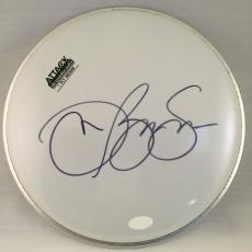 RARE Jon Bon Jovi Signed Drumhead With JSA COA Huge Autograph !