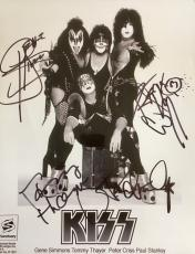 RARE- KISS ALIVE IV signed Promo 8x10 photo-SIMMONS /STANLEY / CRISS /THAYER
