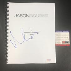 Rare Matt Damon Signed Autographed Jason Bourne Full Movie Script Psa Dna Psa