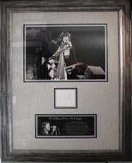 RARE -MICK JAGGER (Rolling Stones) signed/framed custom display-JSA Auth.