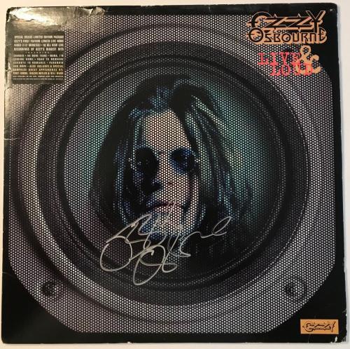 RARE- OZZY OSBOURNE (Black Sabbath) signed Live & Loud Laser Disc