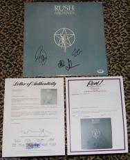 RARE Rush ARCHIVES signed autographed LP album record vinyl by 3 PSA DNA COA