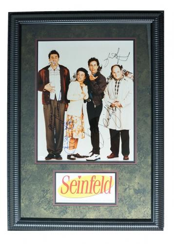 RARE-SEINFELD 16x20 photo signed by entire cast framed display-JSA full letter