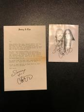Rare Sonny Bono & Cher Signed Photo And Letter