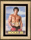 RARE-SYLVESTER STALLONE (Rocky III) signed/framed Original 1982 movie poster-JSA
