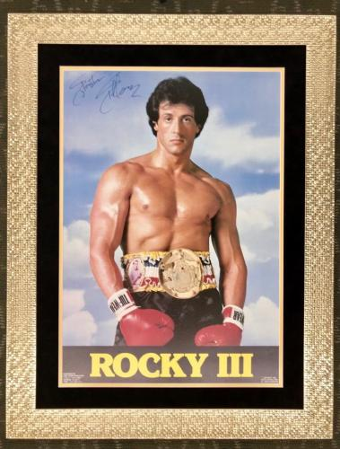 RARE-SYLVESTER STALLONE (Rocky III) signed/framed Original 1982 movie poster-JSA