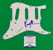 Rare The Eagles Randy Meisner Signed Strat Guitar Pickguard With Beckett Bas Coa