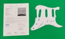 Rare- U2 Bono Signed Fender Strat Stratocaster Guitar Pickguard With Jsa Coa Loa