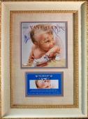 RARE-VAN HALEN-1984 LP signed by ALL 4 Band members framed display-JSA Letter