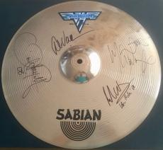 RARE- Van Halen Cymbal signed by ALL 4 ORIGINAL band members-1 of a Kind-JSA